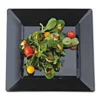 "EMI Yoshi Emi-Sp8 8"" Square Disposable Plastic Salad Plates"