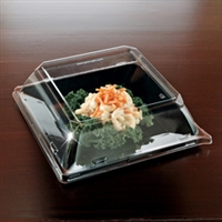 "EMI Yoshi Emi-Sp8LP 8"" Square Disposable Plastic Clear Dome Lids ( Pet )"