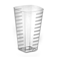 EMI Yoshi Emi-ST12 12oz Clear Disposable Plastic Square Tumblers