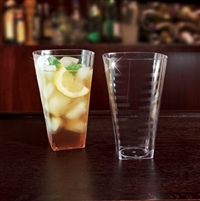 EMI Yoshi Emi-ST16 16oz Clear Disposable Plastic Square Tumblers