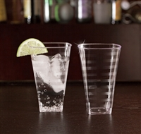 EMI Yoshi Emi-ST8 8oz Clear Disposable Plastic Square Cups / Tumblers