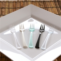 "Small Wonders  Emi-Swfk4 4"" Disposable Plastic Mini Tasting Forks"