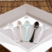 "Small Wonders  Emi-Swsp4 4"" Disposable Plastic Mini Spoons Tasting Spoons"