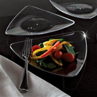 "EMI-Yoshi EMI-TRP7 7"" Triangle Disposable Plastic Salad Plates"