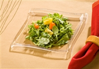"EMI Yoshi 6.5"" Wave Square Disposable Plastic Salad  Plates"