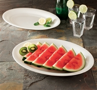 "Emi-Yoshi Oval EMI-1116 11"" by 16"" Disposable Heavy Weight Plastic Serving Trays"