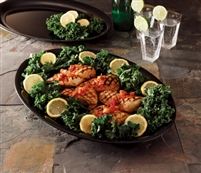 "Emi-Yoshi Emi-1421 Oval 14"" by 21"" Disposable Heavy Weight Plastic Serving Trays"