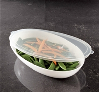 Emi-Yoshi Small Oval Salad Serving 32oz Bowl Lids