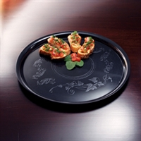 "Emi-Yoshi Emi-240 14"" Deli Mate Round  Disposable Plastic Serving Trays"