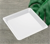 "Emi-Yoshi Emi-711 10.75"" Conserve Square Tray Disposable Plastic Serving Trays Unbreakable Trays"