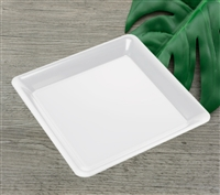 "Emi-Yoshi Emi-711 10.75"" Conserve Polypropylene Square Disposable Plastic Serving Trays Unbreakable Trays"
