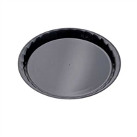 "Emi-Yoshi Emi-720B 12"" Conserve Polypropylene Round Disposable Plastic Serving Trays"
