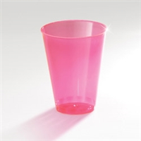 7 oz Neon Disposable Plastic Tumblers ( Red, Blue, Yellow And Orange )