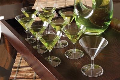 Small Wonders Clear 2 oz Mini Plastic Martini Glasses 120 Cups by EMI Yoshi