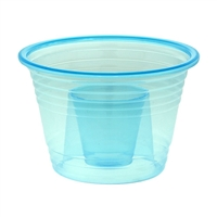 Emi-Yoshi Emi-Pbblu Blue Jager Bomb Cups Jager Party Bomber Shot Glasses