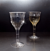 Emi-Yoshi Disposable Plastic Crystal Wine Glasses