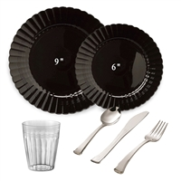 Scalloped Full Party Package Black