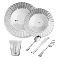 Scalloped Full Party Package Clear