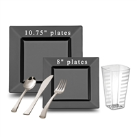 Square Full Party Package Black Larger Size