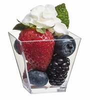 Zappy 2 oz 500 Square Mini Dessert Cups Glasses