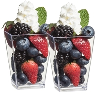 Zappy 5 oz Square Dessert Appetizer Parfait Glasses / Cups