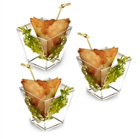 Zappy 6.8 oz Square Dessert Appetizer Cups