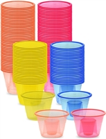 Emi-Pbmix Assorted Neon Colors Disposable Plastic Power Bombers Shot Glass jager Bomb Cups