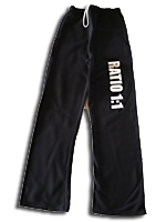 Ratio 1:1 Open Bottom Pocketed Sweatpant - Black