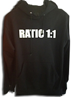 Ratio 1:1 Hooded Sweatshirt - Black