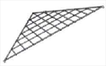 Gridwall Triangular Corner Shelf