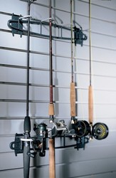 Garage Fishing Rod Rack Fixture Depot