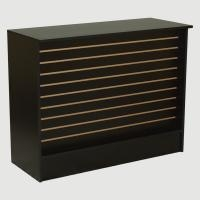 Wrap Counter with Slatwall Front Panel Fixture Depot