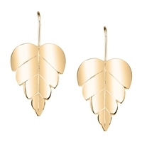 Belizean 14k Gold  Leaf Earrings