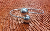 Medium Adult Twisted Wire Bangle 12mm Balls