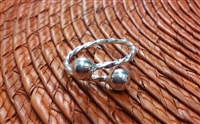 Belizean Bangle Twisted Wire Ring 6mm Balls