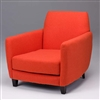 Seriena Barcelona Sofa/Accent Chair upholstered in Orange-red/Purple faux wool, Orange upholstered chair