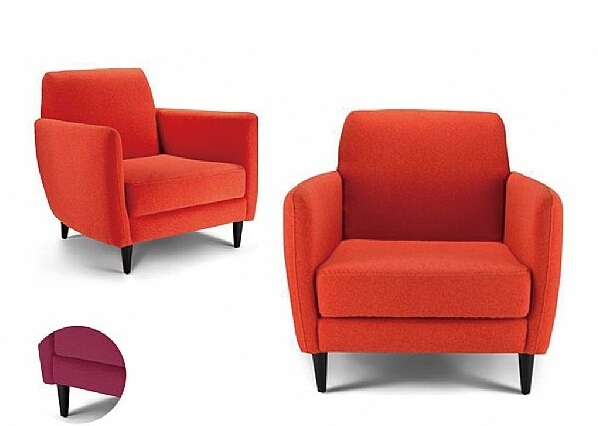 Impressive Orange Accent Chairs Set