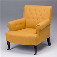 Seriena Madison Tufted Back Linen  Accent Chair/Sofa with Coasters in Yellow, Beige, Brown or black Linen