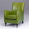 Seriena New York Bonded Leather Accent Chair/Sofa with Coaster, yellow Accent Chair / Sofa, Green accent chairs, Olive Leather Accent Chair, Yellow Leather Accent Chair, Green Leather Accent Chair