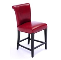 Seriena Shanghai counter height stools, red bar stools, leather stools, Leather Bar Stools with Back support, counter bar stools, bar counter stools, bar and counter stools, modern bar stool, leather counter stool, contemporary bar stool