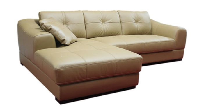 Leather Sectional Sectional Sofa with Chaise