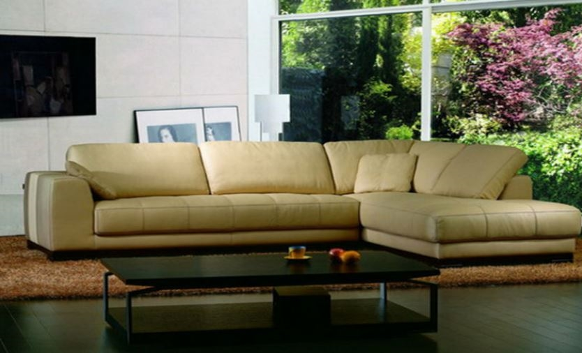 Seriena W series Large L Shaped Sectional Sofa in Brown Top Grain Leather
