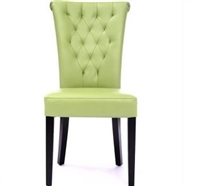 Seriena New Orleans Tufted Back Dining Chair in green Leather, green leather dining chairs, tufted dining chairs, luxury dining chairs, leather dining chair, dining room chairs leather, leather dining chairs for sale, dining room chairs upholstered
