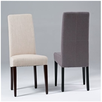 Seriena High Back Dining Chair in Beige/Gray Linen, High Back Dining Chair, luxury dining chairs, linen dining chair, fabric dining room chairs, fabric dining chair, upholstered dining chair, modern upholstered dining chairs, dining chair online