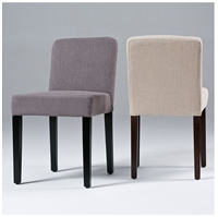 Seriena Low Back Dining Chair In Beige Gray Yellow Red Or Black Linen