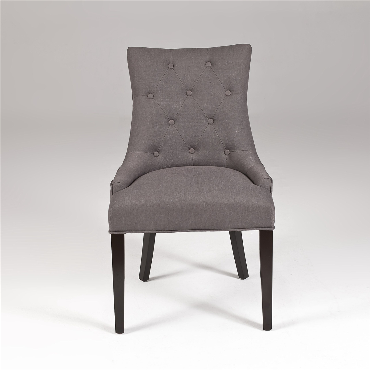Gray Linen Dining Chairs Modern Dining Chairs Gray