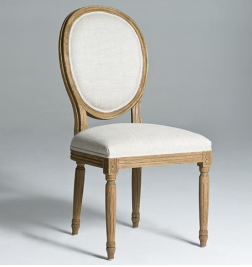 Wondrous Seriena Louis Linen Dining Chair With Natural Wood Legs Ibusinesslaw Wood Chair Design Ideas Ibusinesslaworg