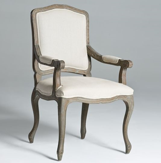 Astonishing Seriena Louis Linen Dining Chair Arm Chair With Square Back Ibusinesslaw Wood Chair Design Ideas Ibusinesslaworg