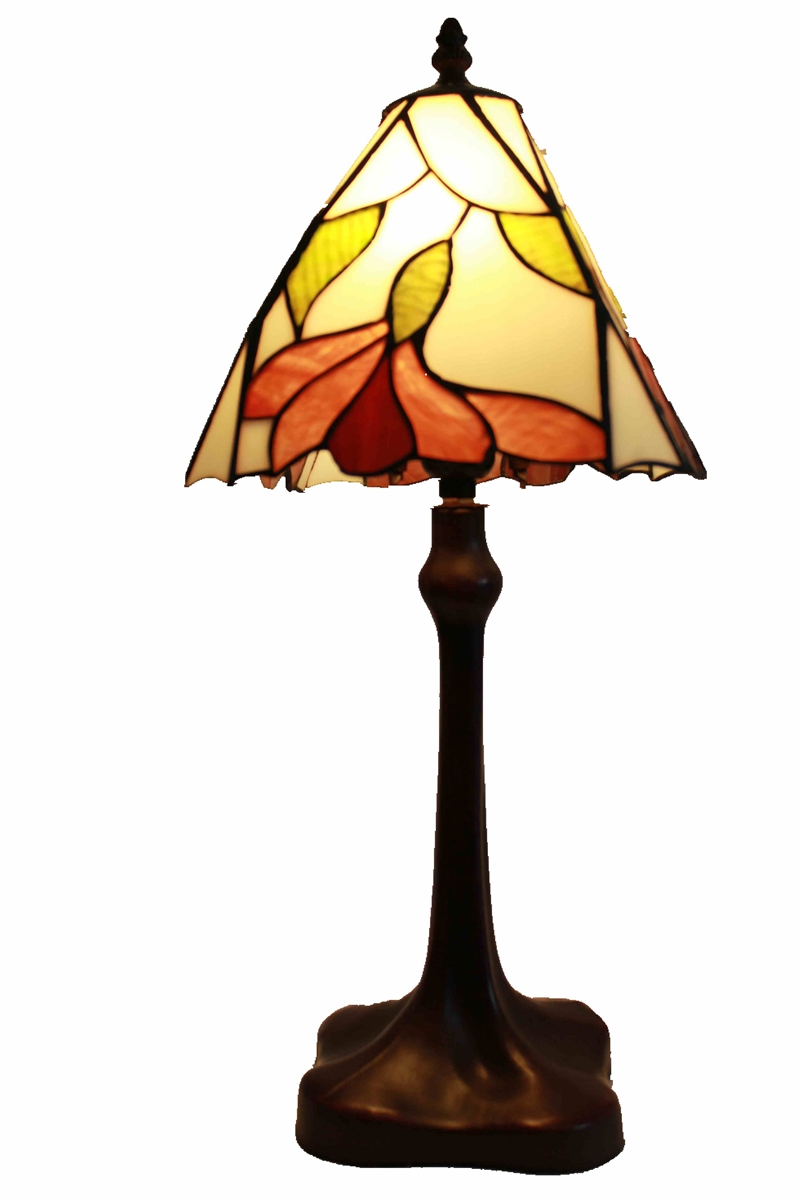 Tiffany Table Lamp 10 Inch Modern Flower Design Glass Lamp Shade With Zinc Base
