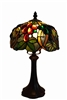 "Tiffany Lamps |Seriena Tiffany Lamp | Grape Vine Design | 8 inch Lamp |  | Tiffany Style Lighting | Glass Table Lamp | 8"" table lamp 